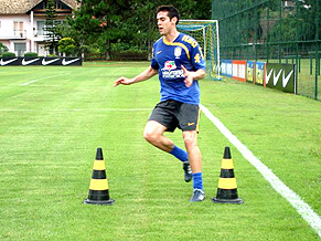 Kaká training in Porto Alegre