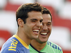 Kakà and Júlio César. Can they save Brazil from further embarrassment?