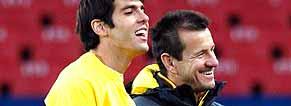 Kaká alongside Dunga