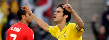 Kaká gets the winner against a plucky Egypt