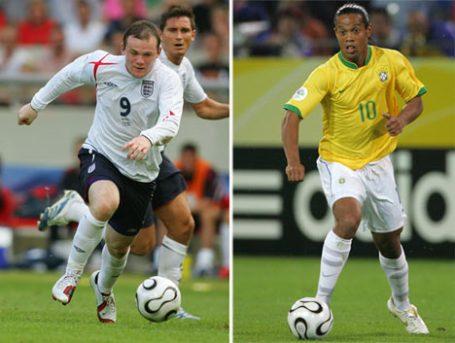 Wayne Rooney and Ronaldinho Gaúcho