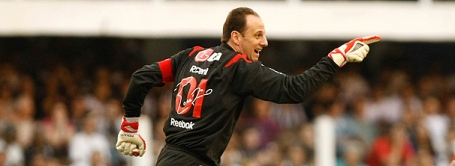 Rogério Ceni scores then gets sent off against Santos