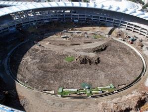 I lavori allo stadio Maracanà