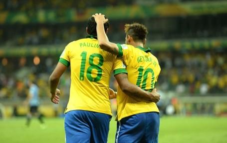 Will Paulinho and Neymar  celebrate for Brazil