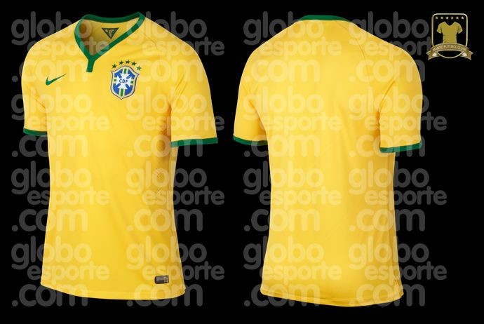 Leaked! Brazils V neck World Cup 2014 shirts