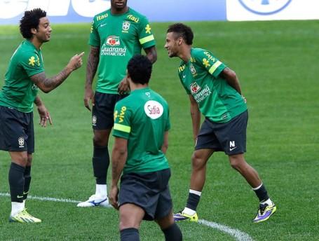 Brazil in training on Friday