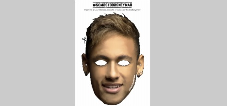 Expect to see 1000s of 'We are all Neymar' masks in the Mineirão