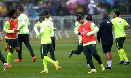 Brazil in training on Friday