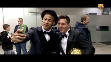Neymar and Messi go head to head